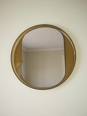1970's perspex circular mirror space age mid-century modern Eames rare