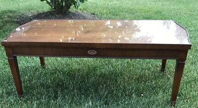 Vintage Wood Carved Cocktail Coffee Table by Lane