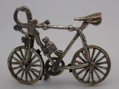 Vintage Solid Silver Italian Made Sport Bicycle Miniature, Figurine, Stamped*
