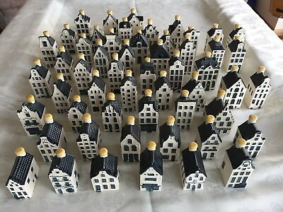 KLM Minature Delft Delph houses - 54 perfect condition all different, all sealed