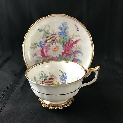 Royal Chelsea Teacup Tea Cup and Saucer Hand Painted Signed