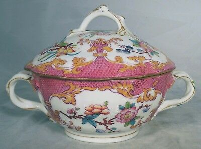 MINTON BOYLE Rose Oriental Garden 3970 Sauceboat Covered Sauce Serving Bowl 1840