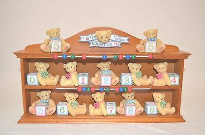 Cherished Teddies - T is for Teddies Count on Me Baby Collection Display 302953