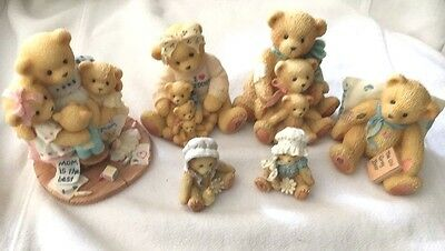 Cherished Teddies Lot Of 8 With 2 Minis