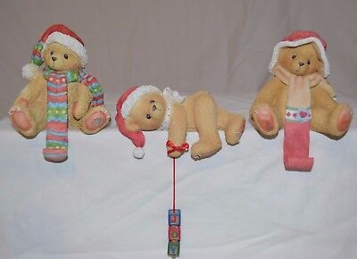 Cherished Teddies - 3 Piece Collection Christmas Stocking Hangers 913855 176133