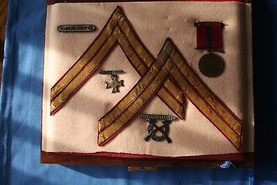 Early 1920's Marine USMC Named Good Conduct Medal Insignia Grouping