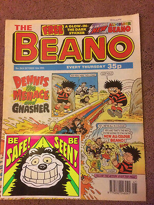BEANO COMIC No2674 OCT 16TH 1993 COMPLETE WITH FREE GIFT