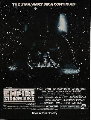 Vintage 1980 The Empire Strikes Back Movie print ad   Star Wars  Great to frame!