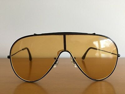 Vintage 1980's Bausch & Lomb Wings Sunglasses Ray-Ban USA Amber/Brown Lenses
