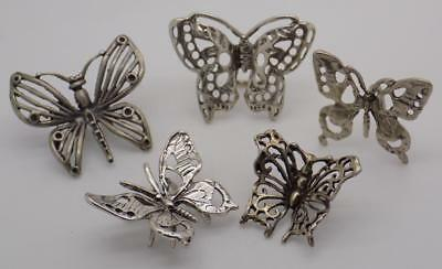 25.05g/0.883-oz. Vintage Solid Silver JOB LOT 5 x Butterfly Miniatures, Figurine