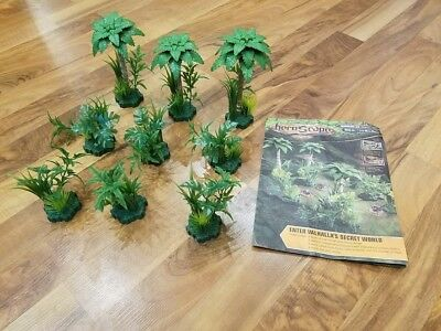 Heroscape Terrain - Ticalla - 3 x Jungle Tree - 6 x Jungle Shrub (No Figures)
