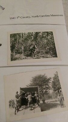 1941 Photograph collection of 5th US Cavalry Carolina Maneuvers