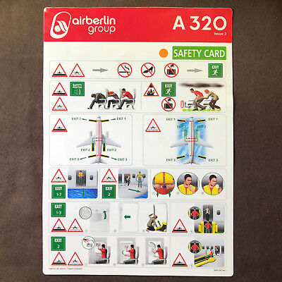 AIR BERLIN Safety Card AIRBUS A320 Issue 2