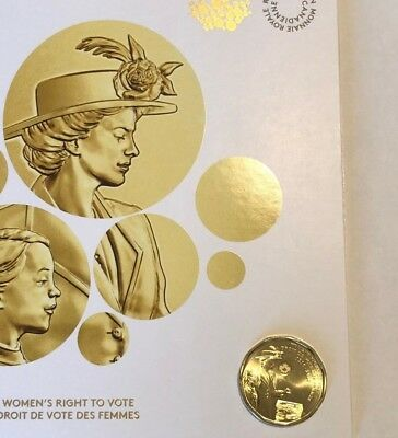 2016 Canada $1 Women's Right to Vote 100th Coin + RCM collector card!