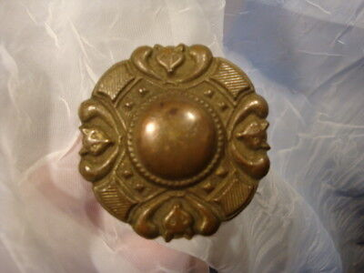 Antique Horse Bridle Rosette Fob Tack Fox Head Hunt Equestrian 1800s Estate Find