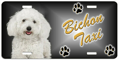 Bichon Frise # 2 Taxi Line License Plate  (( SPECIAL LOW CLEARANCE PRICE ))