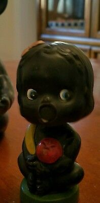 vintage black kissing bauble head. See photos for condition