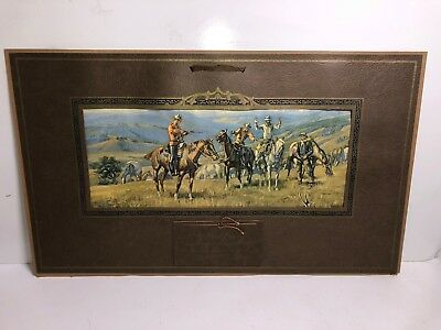1933 Charles Russell Outlaws Mouties Cowboys Osborne Co. Sample Calendar Print