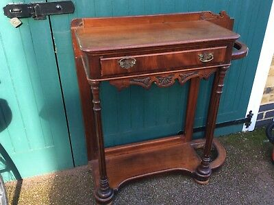Lovely Antique / Vintage Mahogany Hall / Umbrella Stand / Table