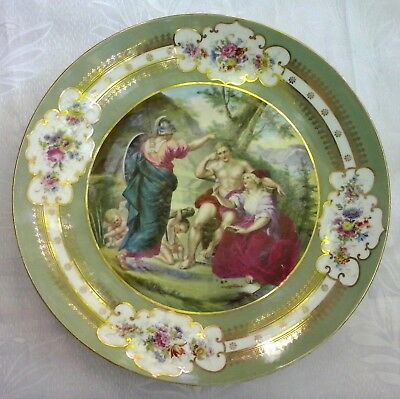 18th Century Beautiful Royal Vienna Hand Painted Porcelain Large Wall Plate RARE