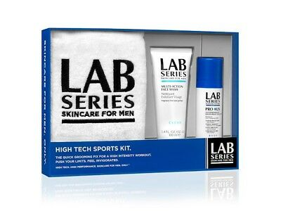 Lab Series - Invigorating Face Scrub & Deodrant - High Tech Sports Kit - New