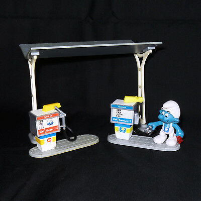 Smurf National Gas Attendant/Pump and Smurf Gas Station Playset #6