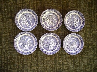 """Barrotts of Staffordshire Old Willow Berry Bowls    5"""" Diameter"""