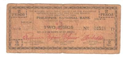 L-too: PHILIPPINES MISAMIS OCCIDENTAL 2 PESOS GUERRILLA CURRENCY 1942 WORLD WAR2