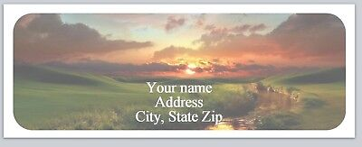 30 Personalized Return Address Labels Country Farm Buy 3 get 1 free (ac 985)