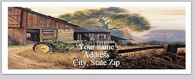30 Personalized Return Address Labels Country Farm Buy 3 get 1 free (ac 984)