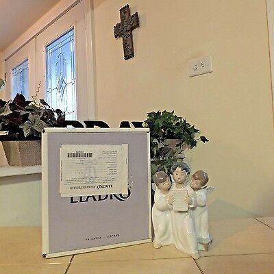 LLADRO GROUP OF ANGELS # 4542 ANGEL CHIOR SINGING MINT w/BOX FAST SHIPPING!!!