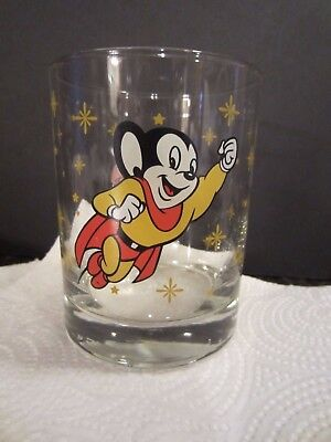 1998 TM Viacom MIghty Mouse 16 oz Tumbler Glass Hard to Find Drinking Glass
