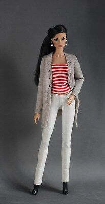 Cardigan for FR2, Nu Face Fashion Royalty, Color Infusion and similar size dolls