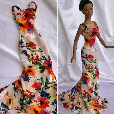 "Long flowery dress, outfit for 16"" Doll, Tonner, FR16, Urban Vita, Sybarite"