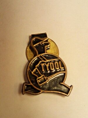 "Vintage Rare TYDOL Gasoline Lapel hat clip - Antique Gas Oil Station Auto 3/4""."