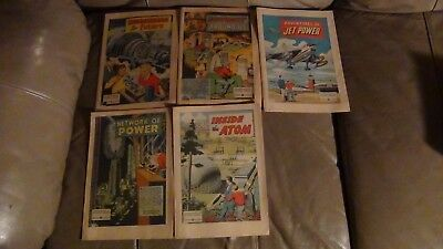 5 Vintage General Electric Giveaway Comics Inside The Atom, Network Of Power