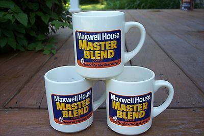 3 Maxwell House  Master Blend Coffee Cups Good To The Last Drop