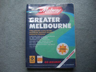 New Millennium Melways Edition 27 - Year 2000 Greater Melbourne area with cover