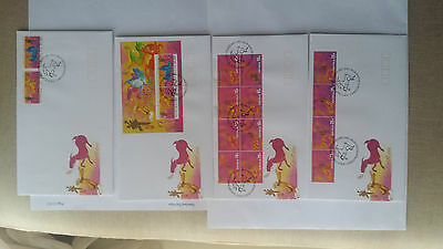 Christmas Island 2003 Year of the Goat set on 4 FDCs