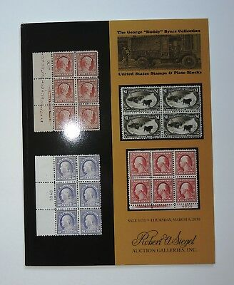 Robert Siegel Auction Catalog George Buddy Byers Collection US Stamps 2018 #1175