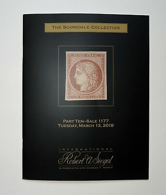 Robert Siegel Auction Catalog Scarsdale Collection #10 France Stamps 2018 #1177