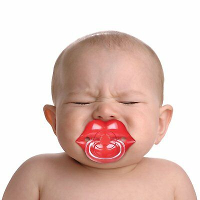 UK NEW PACK of 2 DUMMIES PACIFIER SOOTHER PAIR OF LIPS