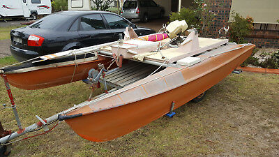 Windrush Surfcat 14 converted hard deck Pontoon Boat with 3.5 Tohatsu Outboard