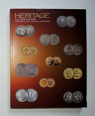 NEW Heritage US Coin Auction Catalog February 2018 Long Beach Sale #1272 Huge!