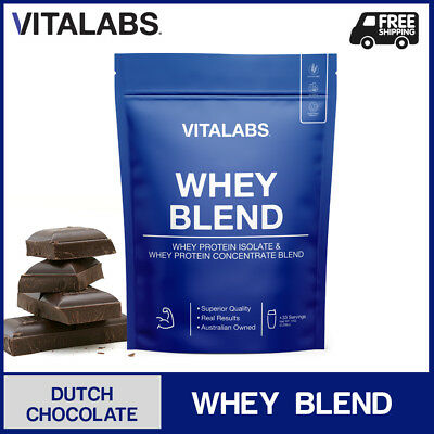 2KG WHEY PROTEIN POWDER WPC/WPI 100% PURE - Dutch Chocolate