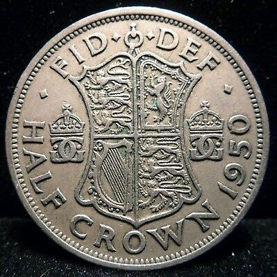 Great Britain 1/2 Crown 1950  Coin