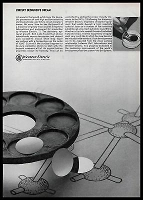 1965 Western Electric Bell System Transistor Circuit Design B&W Vintage Print Ad
