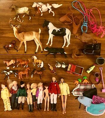 Breyer Mixed Lot Horses Animals Rider Dolls Model Toys 65 + Pieces