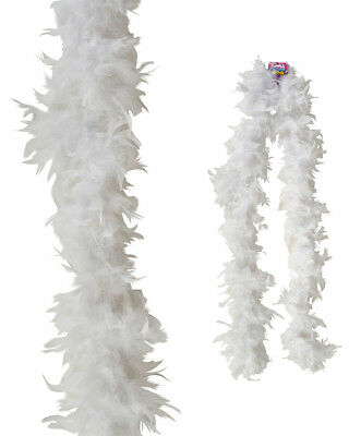 "Dozen White 72"" Feather Boas 20's Show Girl Cabaret Dancer Costume Accessory"