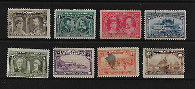 Canada Stamps - Complete Set of 8 - 1908, Quebec Tercentenary Issue #96-103